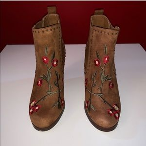 Crown Vintage Embroidered Booties